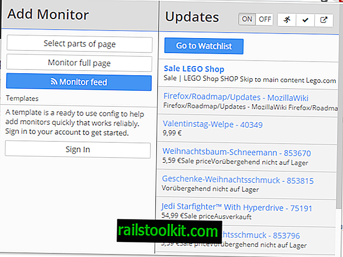 Monitora le modifiche alla pagina web con Distill Web Monitor