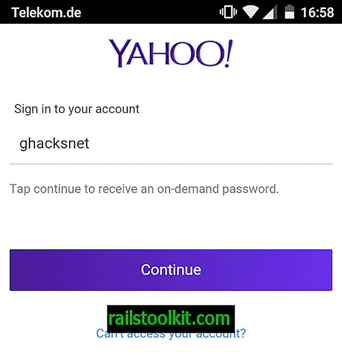 Yahoo-Kontoschlüssel: Passwortfreie Anmeldung für Yahoo-Konten