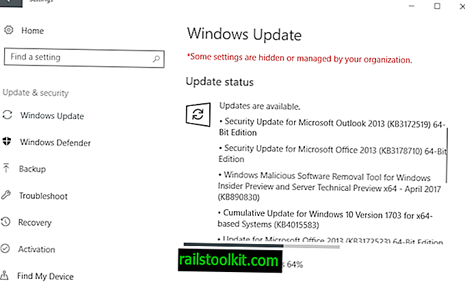 Versão de atualizações de segurança da Microsoft de abril de 2017