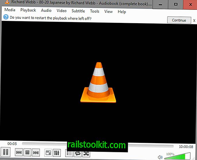 VLC 2.2.3 fixes Recomeçar recurso