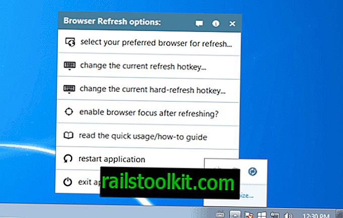 Atualize vários navegadores com uma tecla de atalho