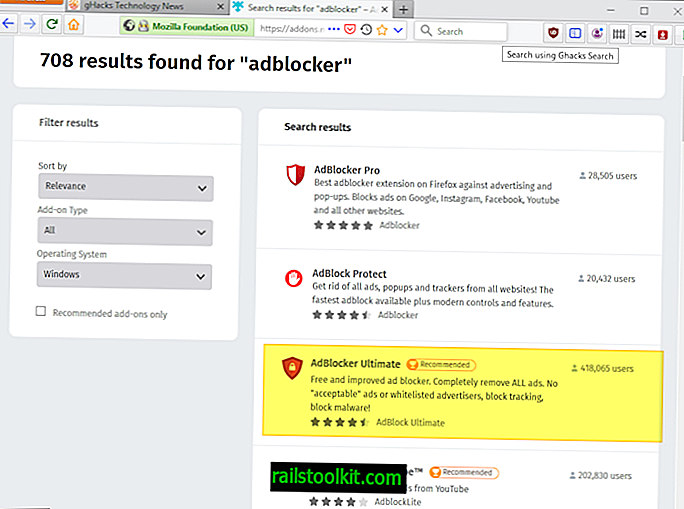 A Mozilla recomenda extensões do Firefox que parecem ser um imitador