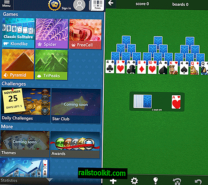 Microsoft Solitaire Collection voor Android