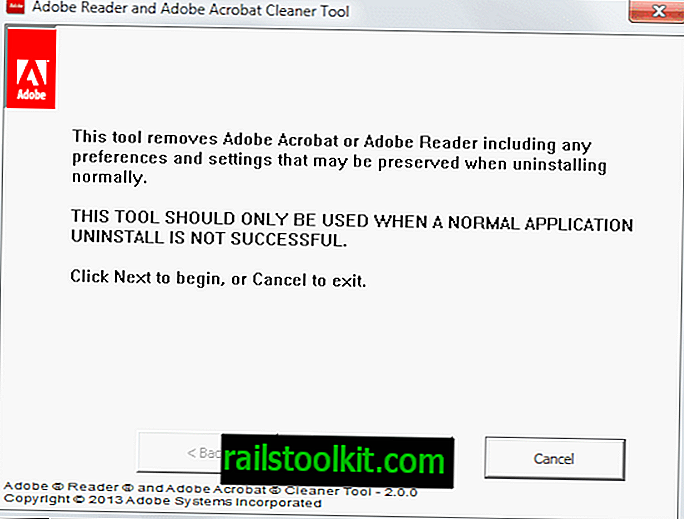 Desinstallige katkine Adobe Acrobat või Reader install