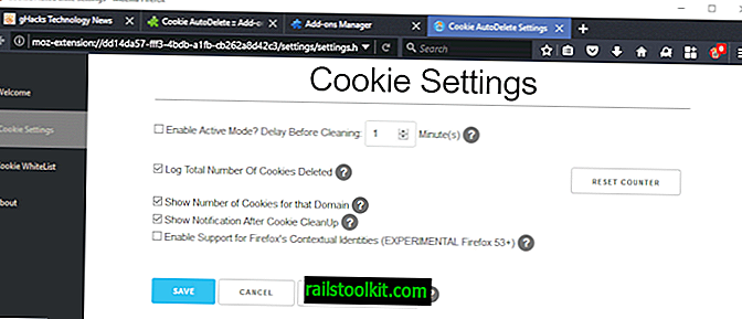 Cookie AutoDelete voor Firefox (WebExtension)