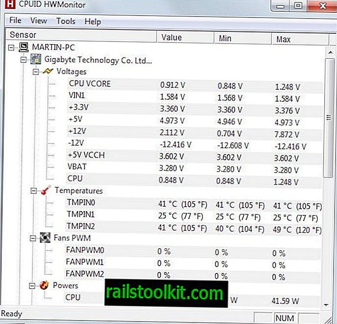 Kaip parodyti kompiuterio aparatūros komponentų temperatūrą