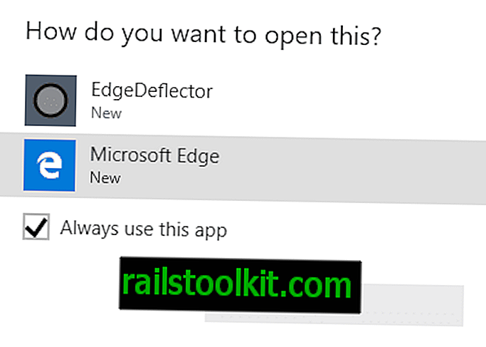 Windows 10: redirection des liens Microsoft Edge avec EdgeDeflector