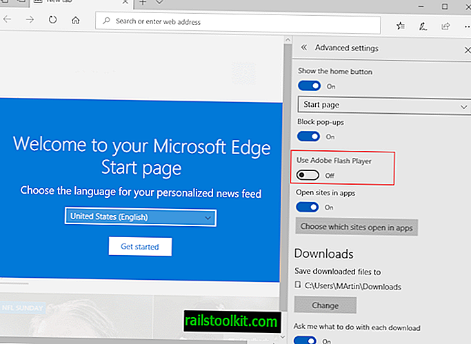 Schakel Adobe Flash uit in Edge en IE
