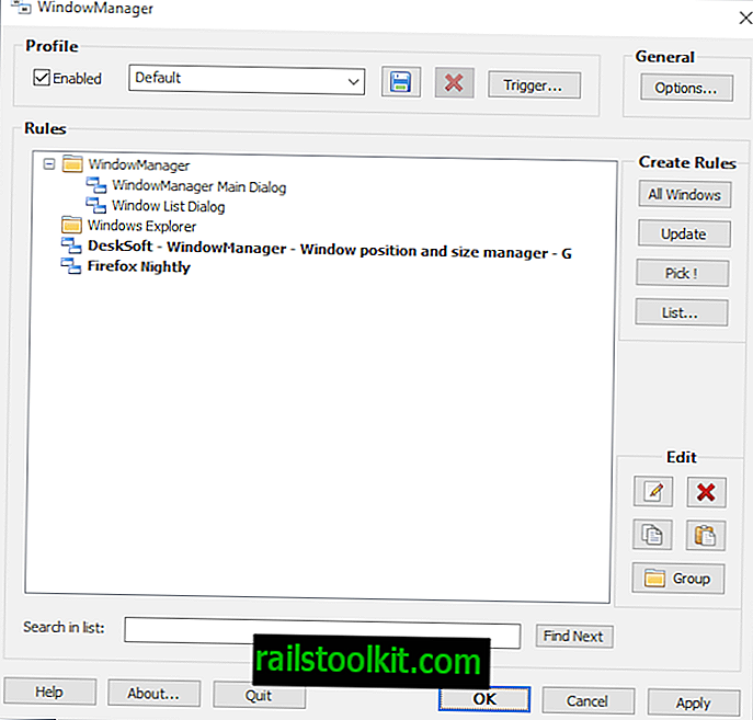 WindowManager: zapomnite si velikosti in položaje oken v sistemu Windows
