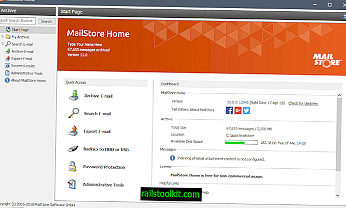 MailStore Home 11.0 не працює