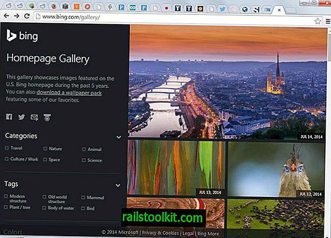 Durchsuchen und Herunterladen aller Bing-Homepage-Hintergrundbilder