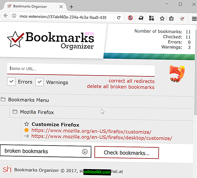 Bookmarks Organizer for Firefox