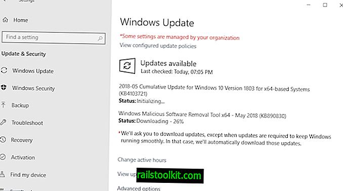 Microsoft Windowsi turbevärskenduste mai 2018. aasta väljalase ülevaade