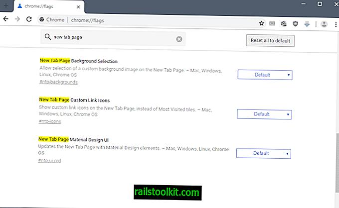 Googleが新しいChrome新しいタブページオプションを実験