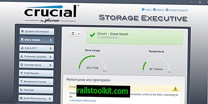 Administre unidades cruciales con Storage Executive