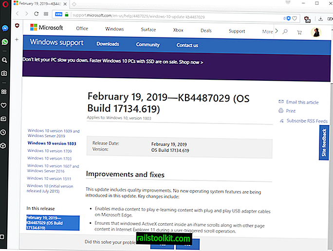 """Išleisti """"Windows 10"""" atnaujinimai KB4487029, KB4487021, KB4487011 ir KB4487006"""
