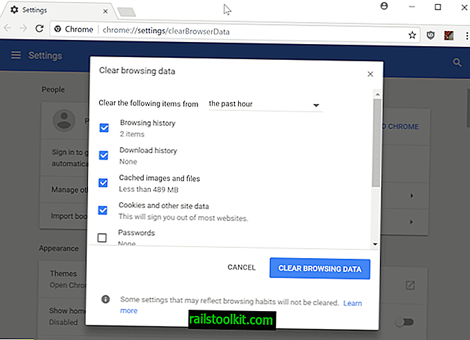 Kuinka poistaa Chromen selaustiedot erittäin nopeasti