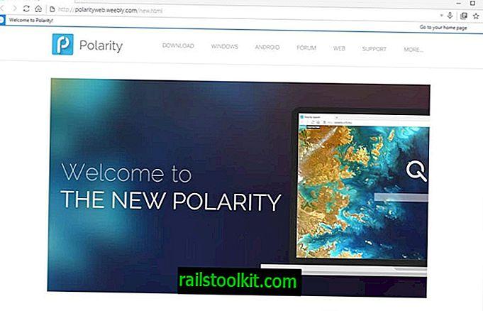 أول نظرة على متصفح الويب ثنائي المحرك Polarity