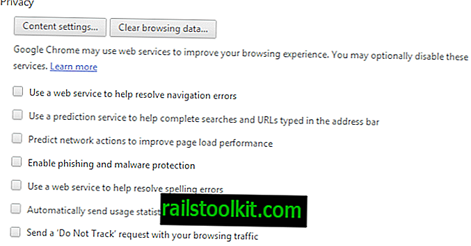 Kako onemogućiti značajke osjetljive na privatnost u pregledniku Google Chrome