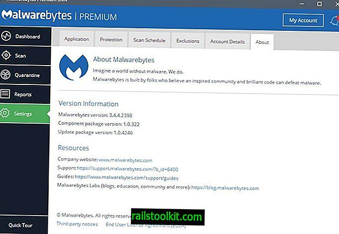 Publication de la mise à jour de Malwarebytes 3.4.4