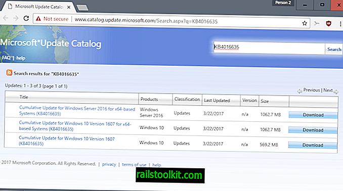 Windows 10 KB4016635 Mise à jour publiée