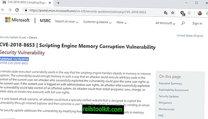 การปรับปรุงความปลอดภัยของ Internet Explorer KB4483187 เปิดตัว