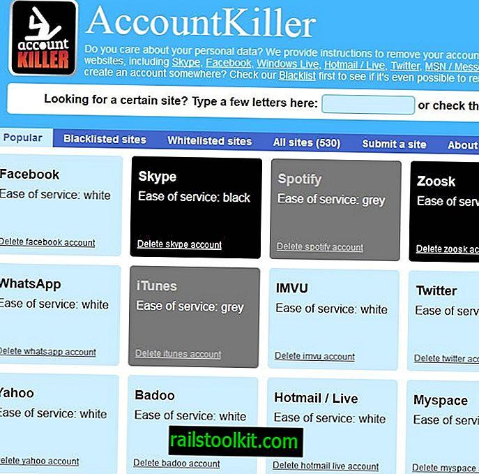 AccountKiller: คำแนะนำสำหรับการลบบัญชีออนไลน์มากกว่า 500 บัญชี