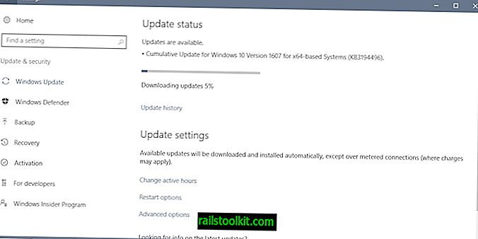 Kumulatives Windows 10-Update KB3194496 - Installationsprobleme