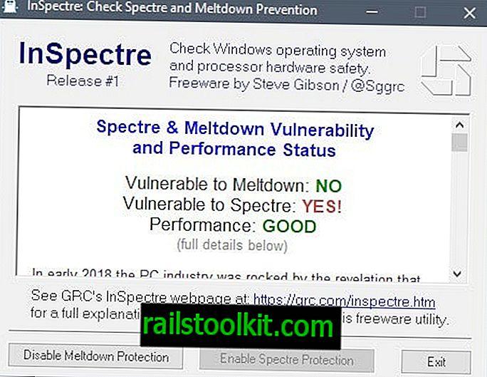 Gibson rilascia InSpectre vulnerabilità e controllo delle prestazioni