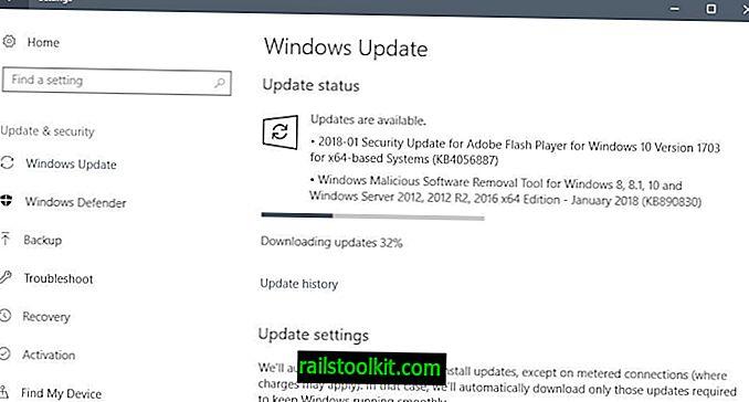 Microsoft Güvenlik Güncelleştirmeleri Ocak 2018 sürümü