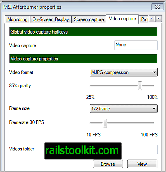 Capture video con MSI Afterburner