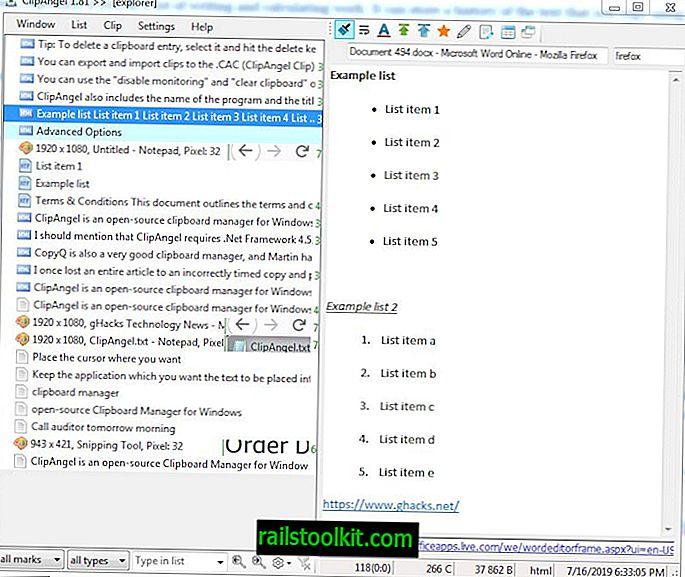 ClipAngel - це менеджер буфера обміну з відкритим кодом для Windows