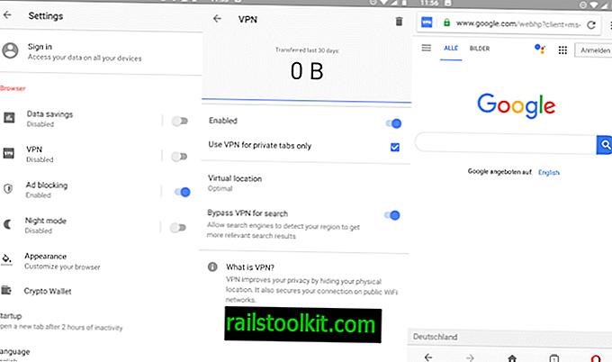 Opera 51 para Android se lanza con VPN incorporada