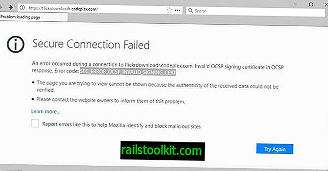 Firefox löst Secure Connection Failed für viele Microsoft-Domains aus (Fix)