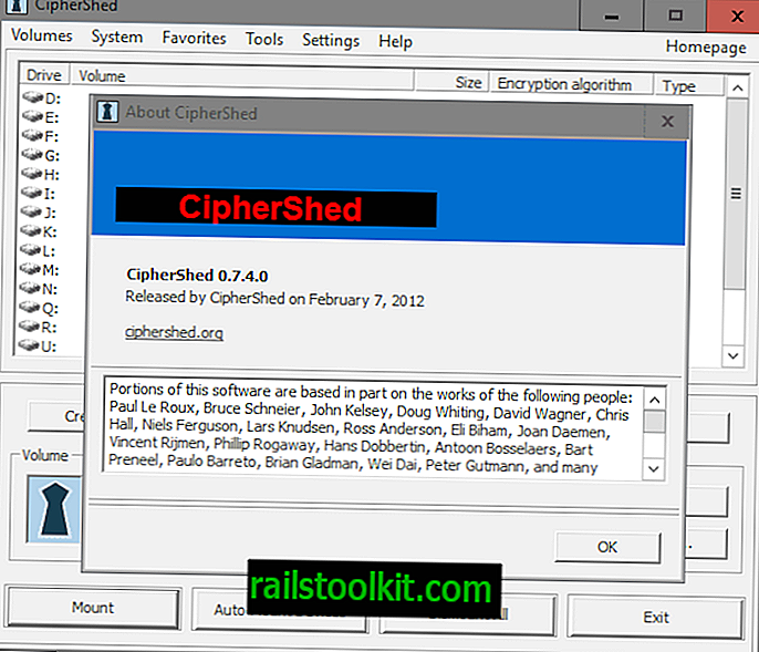 TrueCrypt Alternative CipherShed ist nicht tot