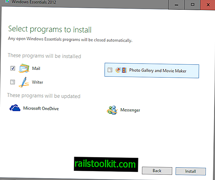 """Windows Live Mail 2012"" programos ""Outlook"" palaikymo pabaiga"
