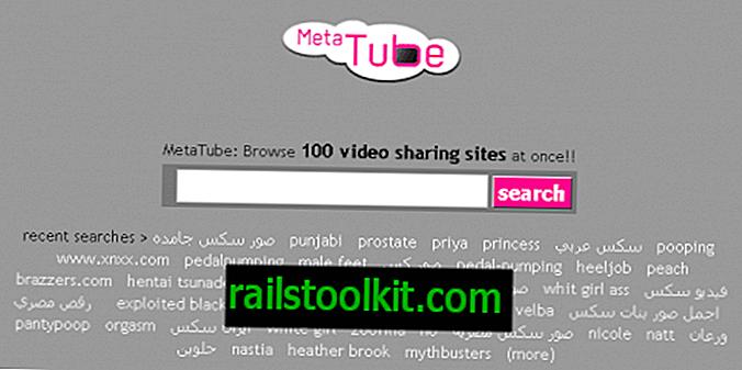 MetaTube를 사용하여 100 개의 비디오 공유 사이트 검색