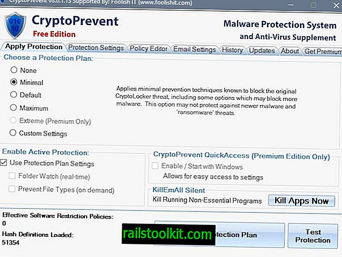 CryptoPrevent 8: Windows-Malware-Präventionssoftware