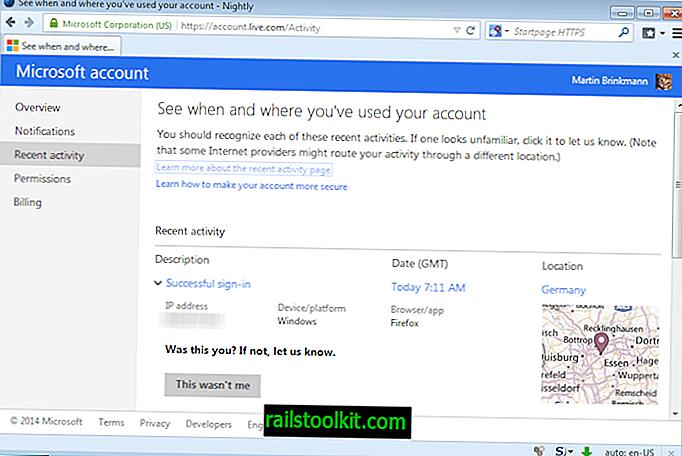 Tarkista Microsoft-tilisi viimeaikainen toiminta