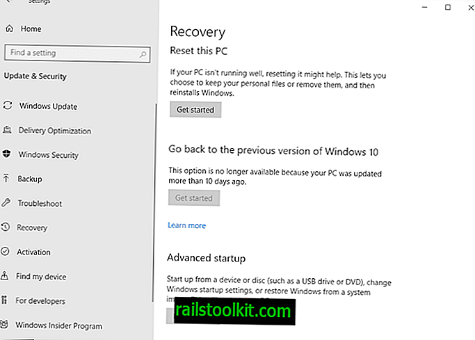 Windows 10 -korjausta ei voi palauttaa päivityksen asentamisen jälkeen