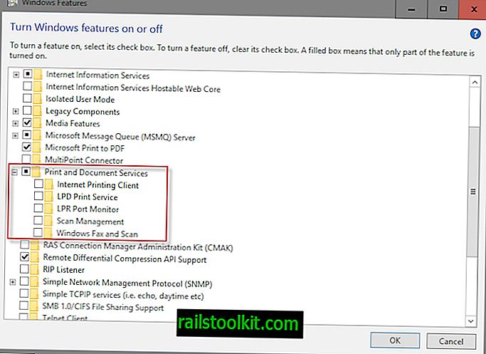 Slå av Windows 10-funksjoner