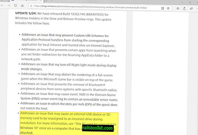 Microsoft melancarkan KB4497935 untuk versi Windows 10 1903 (pembetulan utama)