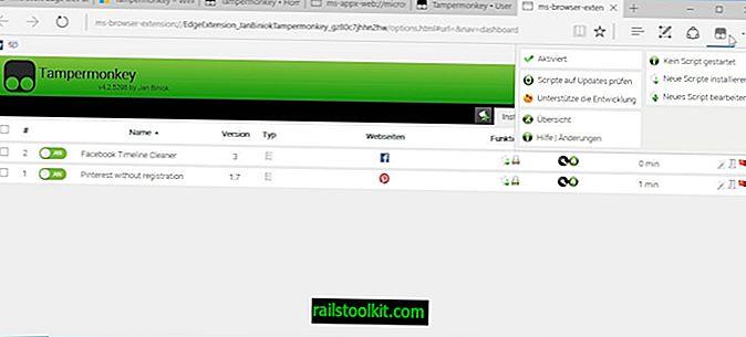 Uporabniške skripte naložite s Tampermonkey za Microsoft Edge