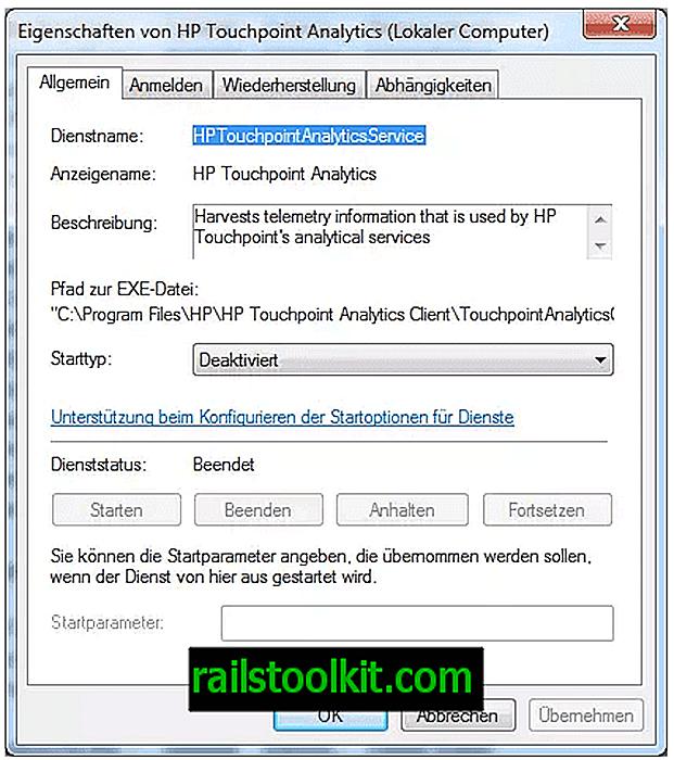 HP installiert den HP Touchpoint Analytics Client-Telemetriedienst