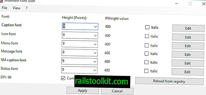 Персонализирайте размера на шрифта без мащабиране в Windows 10