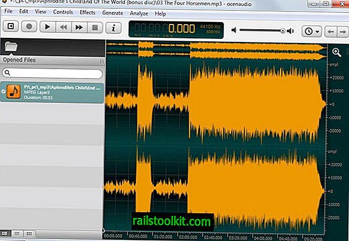 Ocenaudio je snadno použitelná alternativa zvukového editoru Audacity