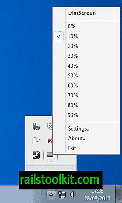 Spremenite svetlost zaslona z DimScreenom