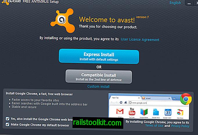 Avast 7 installiert Google Chrome, wenn Sie nicht aufpassen