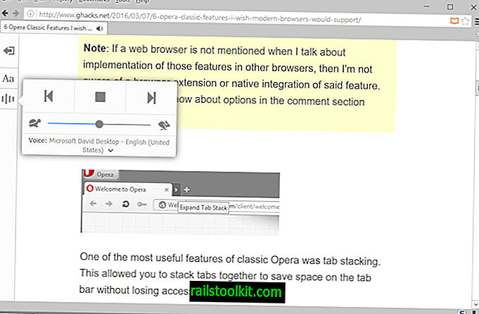 Erzählen Sie: Im Firefox Reader-Modus wird Text in Sprache umgewandelt