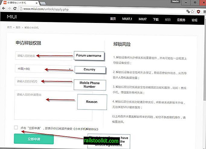 Xiaomi ārprātīgais atbloķēšanas process Mi ierīces sāknēšanas programmām
